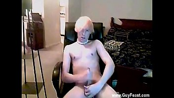 Bleached blond gay dvd - Twinks shaving underarm with the bleach platinum-blonde hair and