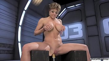 Fuck machine squirt tube galleries Busty milf fucks machine and squirts