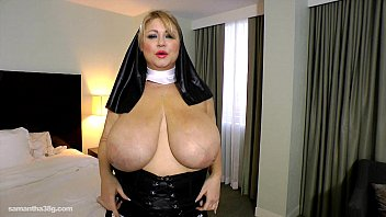 BBW Nun Samantha 38G Drills her Fat Pussy with Toy preview image