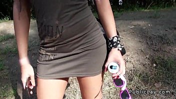 Beautiful amateur fuck at music festival POv in public