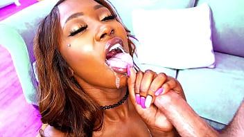 Hot Black Chick Who Gives Sloppy Blowjobs - Ebony Porn