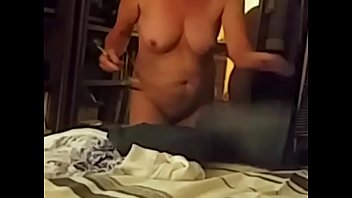 Wifes tits out on cam