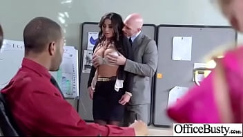 Office Girl (stephani Moretti) With Bigtits Get Hard Style Sex Mov-29