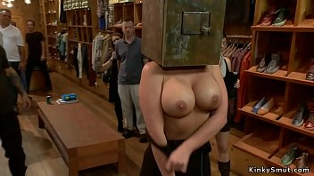 Busty Slave Anal Fucked In Public Store thumbnail