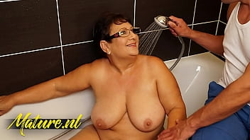 Married BBW With Big Natural Tits Banged By Her ToyBoy Neighbor
