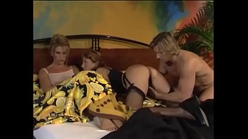 Threesome in bed with wife and lover