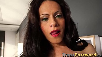 Tranny Lluda Fortune pleasures herself with her fav sex toy