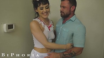 BiPhoria - Man Watches & Joins Couple Fucking At Swingers Party