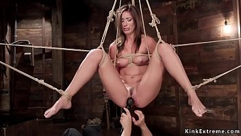 Smokin hot vibrator - Hot brunette tortured on hogtie