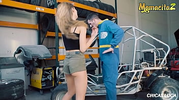 CHICAS LOCA - (Tiffany Tatum & Kevin White) Car Repair Man Skip His Lunch To Fuck With His Girl