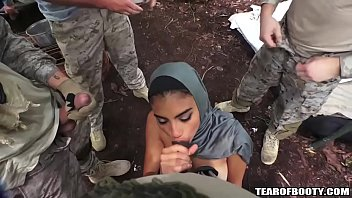 Soldier phisical nude Arab booty babe banged by several guys
