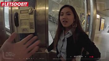LETSDOEIT - #May Thai #Charlie Dean - Asian Teen Tourist Takes A Big Cock Abroad In Hot POV Sex