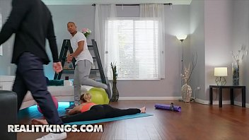 Cute blonde (Ricky, Katie Kush) takes a big black dick after gym - Reality Kings