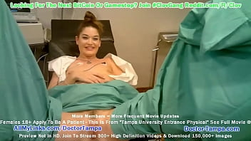 $CLOV Become Doctor Tampa While He Examines Kendra Heart For New Student Physical With Nurse Lenna Lux's Help At GirlsGoneGyno.com