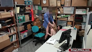 2 sexy shoplifters fucked by one officer pornhub video