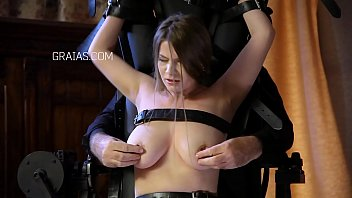 Big black tit torture Big titted journalist whore gets severe punishment