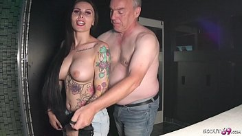 German Big Tits Teen Xania Wet in 2 real Fan Fuck Dates with old Man