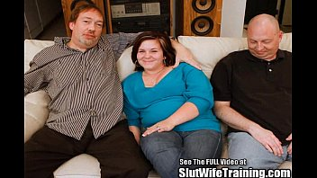 Shy timid wife Janie gets trained to please a platoon