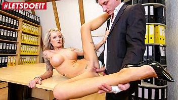 LETSDOEIT - Busty German Secretary Fucked Hard By Her Boss