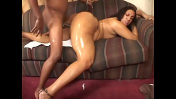 Oiled body and a stunning bottom to bang!