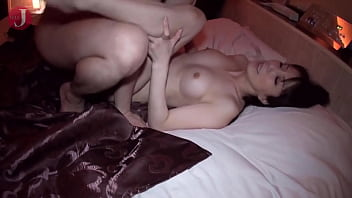 Busty Asian babe with gorgeous body orgasms hard on sex toys before riding cock HMHI-270]