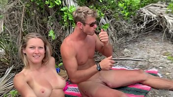 Fucking on the beach wearing thongs!