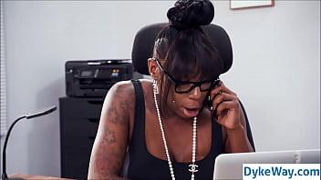 ebony lesbian boss 6 min