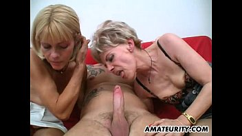 Mature wetlook Amateur threesome with 2 nasty mature housewives