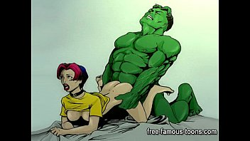 Nude female superhero - Famous cartoon superheroes porn parody