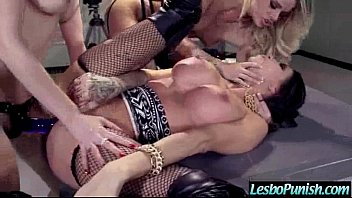 Lesbians (jessa & kayla & kendra) In Hard Style Punish Sex mov-19