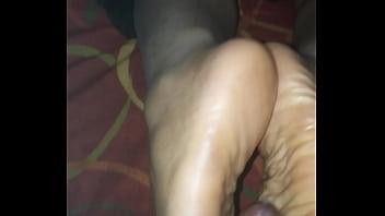 footjob from ebony mistress