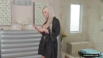 busty blonde masseuse