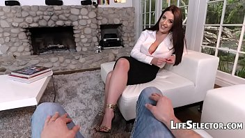 Busty MILF Angela White enjoys foot fetish with her cotenant thumbnail