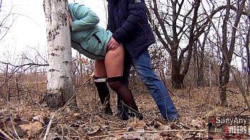 Good sex outdoors with a married hot wife in pantyhose for $ 40 and a mouthful of sperm [XSanyAny]