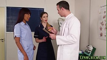 Uniformed nurses dominate