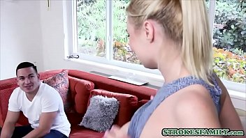 Busty blonde stepsister fucks with her loving stepbrother