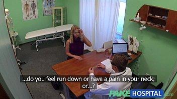 FakeHospital Cute blonde teen prescribed internal creampie