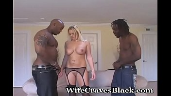 Long time wife blowjob Two studs fuck desperate wife