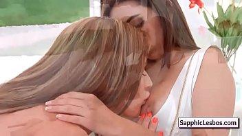 Sapphic Erotica Sexy Lesbian Teens Kissing Tender 1