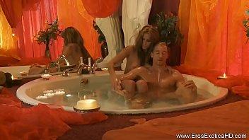 Stunning Massage Blonde Relaxes Him