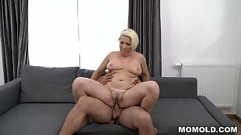 Busty mature fucks much younger guy - Bibi Pink