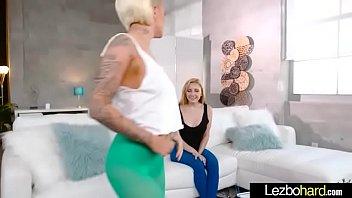 Girl On Girl Sex Show With Lovely Lesbian Girls (Jade Amber &amp_ Pressley Carter) video-13