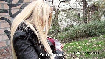 Czech busty blonde flashing in public 7 min