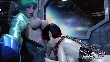 Sci fi and sexy - 3d animated futanari babes having threesome in a space station