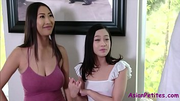 Asian Mom & Sister's Horny Hospitality- Jamine Grey & Sharon Lee