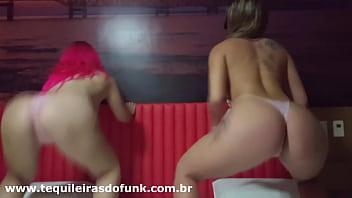 Débora Fantine e Tequileira Misteriosa dançando Funk