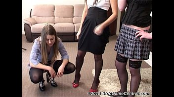3 Girls play Strip Darts