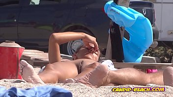 Naked cougars showing their pussies at beach...