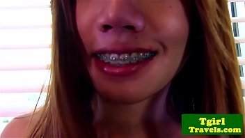 """thai ladyboy with braces strokes and poses whats her name? <span class=""""duration"""">6 min</span>"""