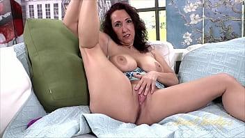 AuntJudys - 46yo Busty Brunette MILF Missy toys her wet pussy (AJ Classics)